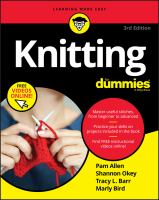 Cover image for Knitting