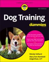 Cover image for Dog training for dummies.