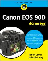 Cover image for Canon EOS 90D for dummies