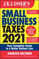 Cover image for J.K. Lasser's small business taxes.