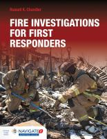 Cover image for Fire investigations for first responders