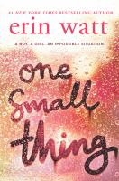 Cover image for One small thing