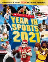 Cover image for Scholastic year in sports.