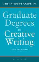 Cover image for The insider's guide to graduate degrees in creative writing