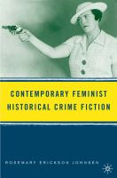 Cover image for Contemporary feminist historical crime fiction