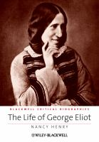 Cover image for The life of George Eliot a critical biography