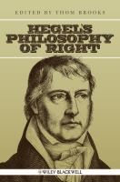 Cover image for Hegel's Philosophy of right