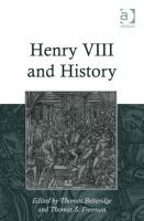 Cover image for Henry VIII and history