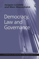 Cover image for Democracy, law and governance