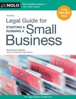 Cover image for The legal guide for starting & running a small business.