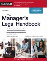 Cover image for The manager's legal handbook