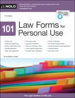Cover image for 101 law forms for personal use