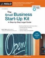Cover image for The small business start-up kit : a step-by-step legal guide
