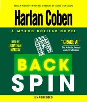 Cover image for Back spin 4th in the Myron Bolitar series