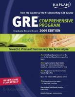 Imagen de portada para GRE(R) exam : comprehensive program