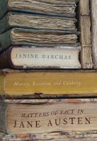 Cover image for Matters of fact in Jane Austen history, location, and celebrity