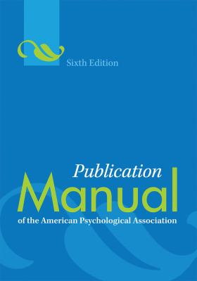 Cover image for Publication manual of the American Psychological Association.