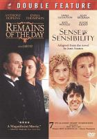 Cover image for The remains of the day Sense and sensibility.