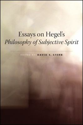 Cover image for Essays on Hegel's philosophy of subjective spirit
