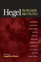 Cover image for Hegel on religion and politics