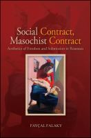 Cover image for Social contract, masochist contract  aesthetics of freedom and submission in Rousseau