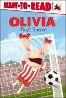 Cover image for Olivia plays soccer