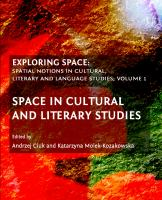 Cover image for Exploring space spatial notions in cultural, literary and language studies