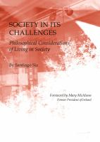 Cover image for Society in its challenges  philosophical considerations of living in society
