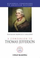 Cover image for A companion to Thomas Jefferson