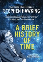 Cover image for A brief history of time