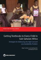Cover image for Getting textbooks to every child in sub-Saharan Africa  strategies for addressing the high cost and low availability problem