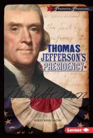 Cover image for Thomas Jefferson's presidency