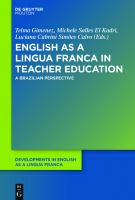 Cover image for English as a lingua franca in teacher education a Brazilian perspective