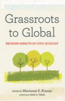 Cover image for Grassroots to global broader impacts of civic ecology