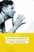 Imagen de portada para One hundred autobiographies : a memoir