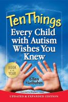 Cover image for Ten things every child with autism wishes you knew