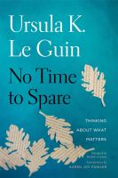 Cover image for No time to spare