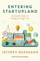 Cover image for Entering startupland An essential guide to finding the right job