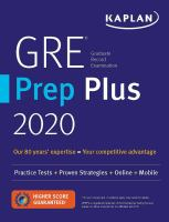 Cover image for GRE prep plus