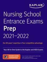 Imagen de portada para Nursing school entrance exams prep 2021-2022