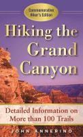 Cover image for Hiking the Grand Canyon : a detailed guide to more than 100 trails