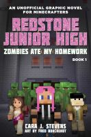 Cover image for Redstone Junior High an unofficial graphic novel for Minecrafters