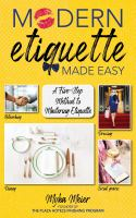 Cover image for Modern etiquette made easy : a five-step method to mastering etiquette