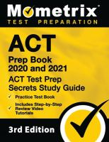 Cover image for ACT® prep book 2020 & 2021 secrets study guide : practice test book