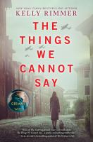 Cover image for The things we cannot say