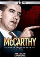 Cover image for McCarthy power feeds on fear