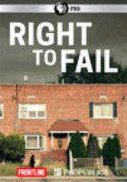 Cover image for Right to fail