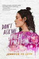 Cover image for Don't ask me where I'm from