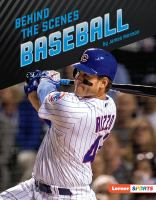Cover image for Behind the scenes baseball
