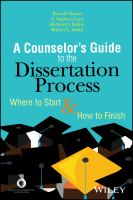 Cover image for A counselor's guide to the dissertation process  where to start and how to finish